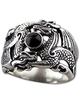etNox - Silberring ''Double Dragon'' (R5051)