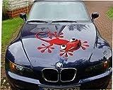 DSF Gecko Rot 70 cm Motorhauben Kult - Aufkleber Auto