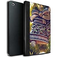 STUFF4 PU Pelle Custodia/Cover/Caso Libro per Apple iPad Mini 1/2/3 tablet / Campana di Bronzo / Foto di Natale disegno