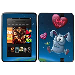 Diabloskinz Vinyl Adhesive Skin Decal Sticker for 8.9 inch Amazon Kindle Fire HD - Bunny Who Loved Me
