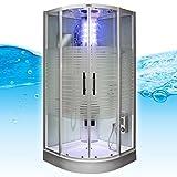 AcquaVapore DTP8068-1010 Dusche Duschtempel Komplett Duschkabine 90x90, EasyClean Versiegelung:JA mit 2K Scheiben Versiegelung