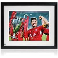 exclusivememorabilia.com Fotografía del fútbol de Liverpool firmada por Steven  Gerrard  Estambul 2005. 22e8cd8472cee