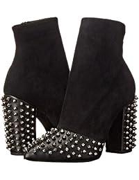 SONGYUNYANOccidental ante señal?lucha metal piel remaches botas de oficina moda mujer , black , 44