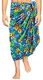 LA LEELA Badeanzug Männer Badeanzug Sarong hawaiianische Badebekleidung Coverup Bademoden blau Wickeln