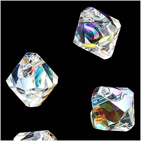 SWAROVSKI ELEMENTS Crystal #6301 6mm Bicone Pendant Beads Crystal AB