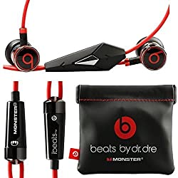 Monster Beats by Dr Dre iBeats Headphones with ControlTalk (Black) (Supplied with no retail packaging)