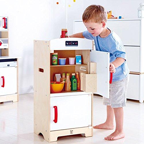 Hape–e3153–Spiel Synthetische Holz–Küche–Kühlschrank, weiß