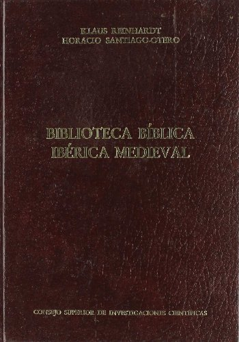 Biblioteca bíblica ibérica medieval (Medievalia et Humanistica)