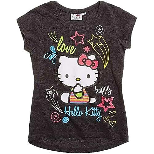 Hello Kitty–Camiseta para niña manga corta en 2variantes y 4tamaños
