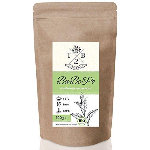 Grüner Tee-mischung (Grüner Tee Mischung in Bio-Qualität bei Detox-Kuren mit Zitronenverbene, Mate Tee 100g (Ca. 40 Tassen) | Tea2Be)