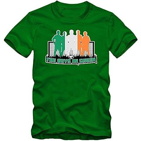 Irland EM 2016 #7 T-Shirt | Éire | Fußball | Herren | The Boys in Green |Trikot | Nationalmannschaft, Farbe:Hellgrün (Kelly Green