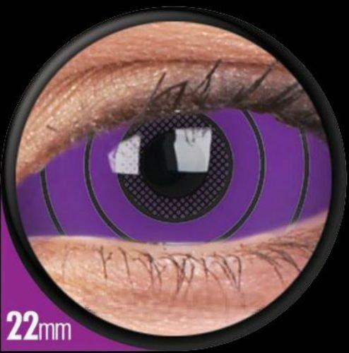 1 Paar Sclera COLOSSUS Kontaktlinsen linsen farbige violet lila mauve vampir sklera mit Box dämon halloween kostüme scleral
