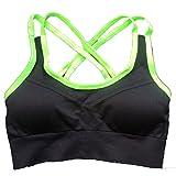 Snack Aufblasbare Harness Sport Weste Yoga Schönheit Zurück Komfortable Home BH Relaxed Retro Keine Kompression Schnell Trocknend,FluorescentYellow-M