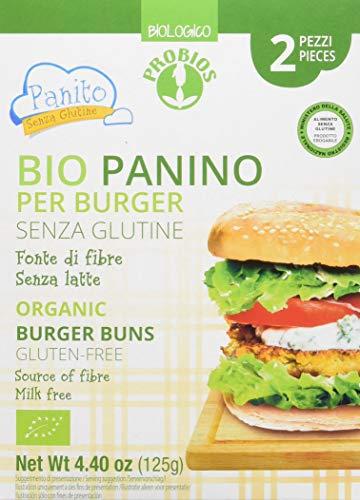 Probios Panino Bio per Burger Senza Glutine - [Confezione da 16 x 62,5 g]