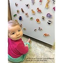 Imanes de nevera para niños de animales de granja - 29 espuma imanes para niños - Animales de juguete - Juegos educativos 2 años