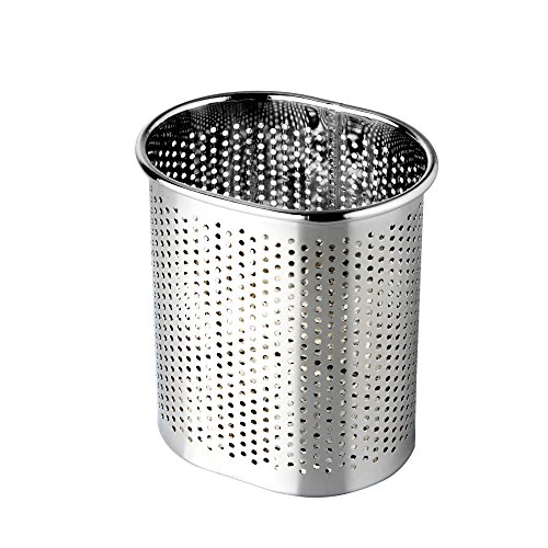 Stainless Steel Cutlery Utensil Holder (Small Oval)