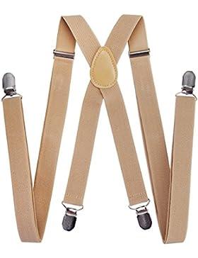 axy para hombre tirantes de ancho 2,5 cm con 4 fuerte clips x-forma y para mujer