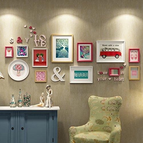 Galleria fotografica ASL Photo Wall parete della struttura creativo fai da te combinazione Carta da Soggiorno lettera di legno massello di nozze festa regalo romantico calore qualità ( Colore : A )