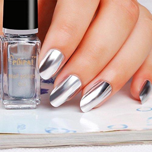 Hot Spiegel Nagel Pulver Glitzer Chrom Pulver Kunst Dekoration Politur Silber Paste Metall Farbe...