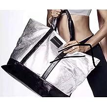 Victoria Secret - Bolso de tela para mujer plateado plata