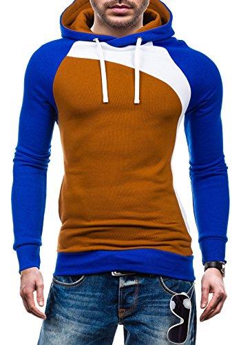 BOLF – Sweat-shirt à capuche – Pull de sport - STX JACK – Homme Marron