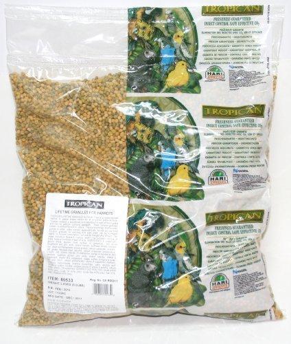Tropican Lifetime formula manutenzione Parrot granulato, 3,6kilogram di Hari