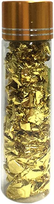 Goolsky 24K Gold Flakes Edible Food Decorating Foil Paper Cuisine Mousse Cake Baking Pastry Art Craft Decor