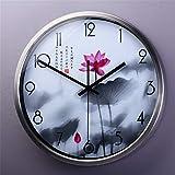 ec23de17ecf9 Reloj de pared simple de madera maciza sala de estar Nueva tinta china reloj  de cuarzo