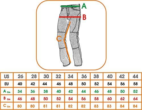 Jeans-Pantaloni-Moto-Protezioni-Omologate-Inserti-Kevlar-Rinforzati-Blu-40