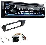 caraudio24 JVC KD-X151 1DIN USB Aux MP3 Autoradio für Renault Scenic (ab 12) Braun