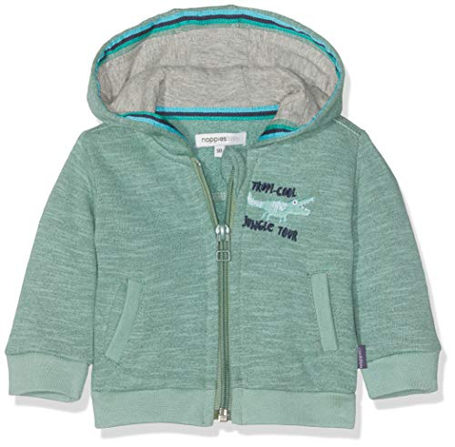 Noppies Baby-Jungen B Sweat Hood ls Savannah Sweatjacke, Grün (Oil Green P038), 56