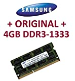 SAMSUNG Original 4 GB 204 pin DDR3-1333 PC3-10600 CL9 SO-DIMM