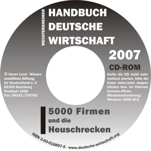 Handbuch Deutsche Wirtschaft 2007. CD-ROM.
