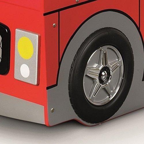 Julian Bowen London Bus Bunk Bed – UK Single, Red