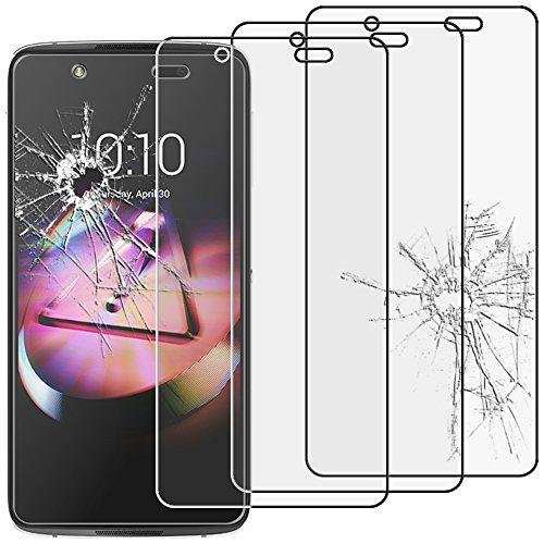 ebestStar - Alcatel Idol 4 Panzerglas x3 Idol 4 (5.2) Schutzfolie Glas, Schutzglas Bildschirmschutz, Bildschirmschutzfolie 9H gehärtes Glas [Idol 4: 147 x 72.5 x 7.1mm, 5.2'']