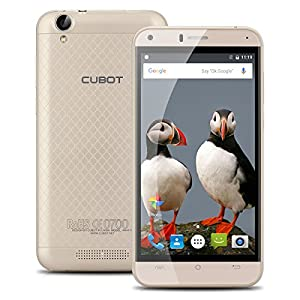 Cubot Manito 5.0 Inch 1280*720 IPS HD 4G Smartphone MT6737,Quad-Core, 1.3GHz 3GB RAM+16GB ROM Dual SIM Card Dual Standby 13.0MP Back Camera Cellphone(Gold)