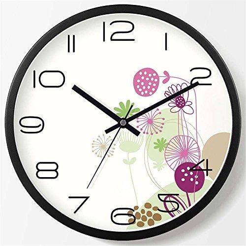 WALL CLOCK WERLM Salon élégant Horloge Murale Horloge Creative Chambre Salon Chambre à Coucher Horloge Murale Mute Horloge Murale Horloge Quartz Noir, devrait être de 20 cm