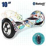 Hoverboard con Luces LED y Bolsa - Patinete Eléctrico Scooter con Certificación UL, Auto-Equilibrio Patín de Dos Ruedas para Niños/Adulto/Adolescentes diseño 2018