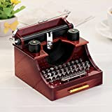 Yiuswoy Mini Vintage Schreibmaschine Spieldose Schreibtisch Dekoration fuer Geschenk