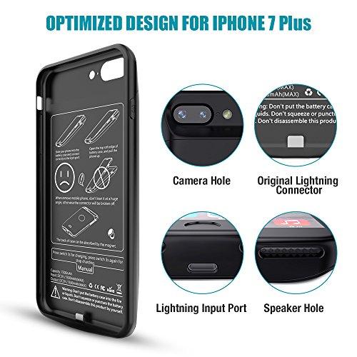 iPhone 7Plus Coque batterie noir