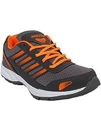 Arexon Men's Synthetic Grey Colored Sport Shoe( Men's Running Shoe, Breathable Sports Shoe, High Grip Sports Shoe... - B074Q1SV1D