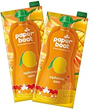 Paper Boat Alphonso Aam, Mango Fruit Juice, No Added Preservatives and Colours (Pack of 2, 1L Each)