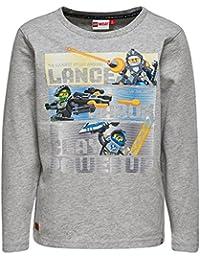 Lego Wear Boy Nexo Knights Teo 204-T-Shirt L/S, Hauts à Manches Longues Garçon