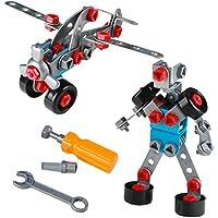 Juguetes de Construcción Ensamblaje Avión y Robot Modelos de 2 en 1 3D Puzzles para Niños más de 3 Años (111 PCS)