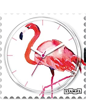 Stamps S.T.A.M.P.S. Uhr Zifferblatt Pink Feathers 104302