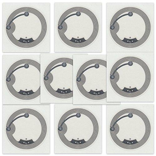 10 NFC Tags Sticker NTAG216 | 888 Byte | 38mm | transparent