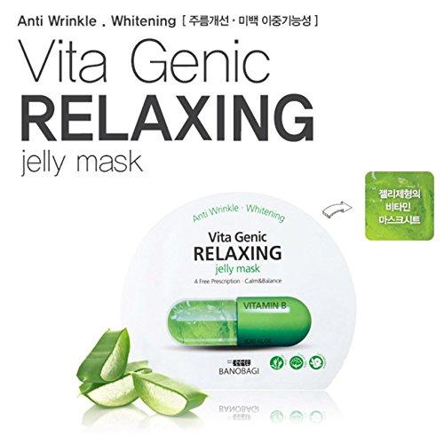 BANOBAGI vita genic Gelee Maskenblatt 10pcs für Anti-Falten, Bleaching grüne Farbe zum Entspannen