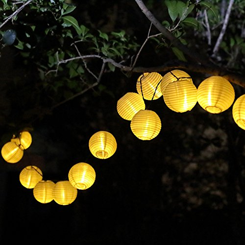 lampion lichterkette solar 6 meter mit 30 leds. Black Bedroom Furniture Sets. Home Design Ideas