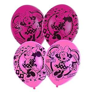 amscan 9903668 - Globos de látex (6 Unidades), diseño de Minnie Mouse, Color Rosa