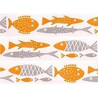 Nastro coprente mt Washi decorativo pesci arancioni e grigi